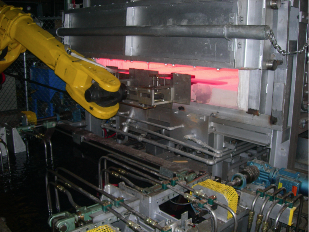 Automated Discharge & oil quenching