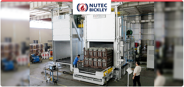 Aluminum heat treatment furnaces for direct heating applications